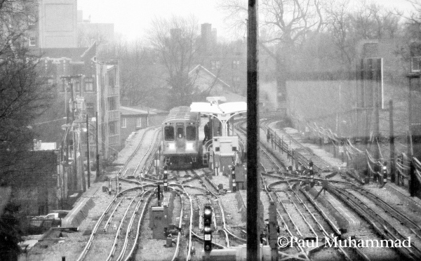 Photograph: View of el train and tracks